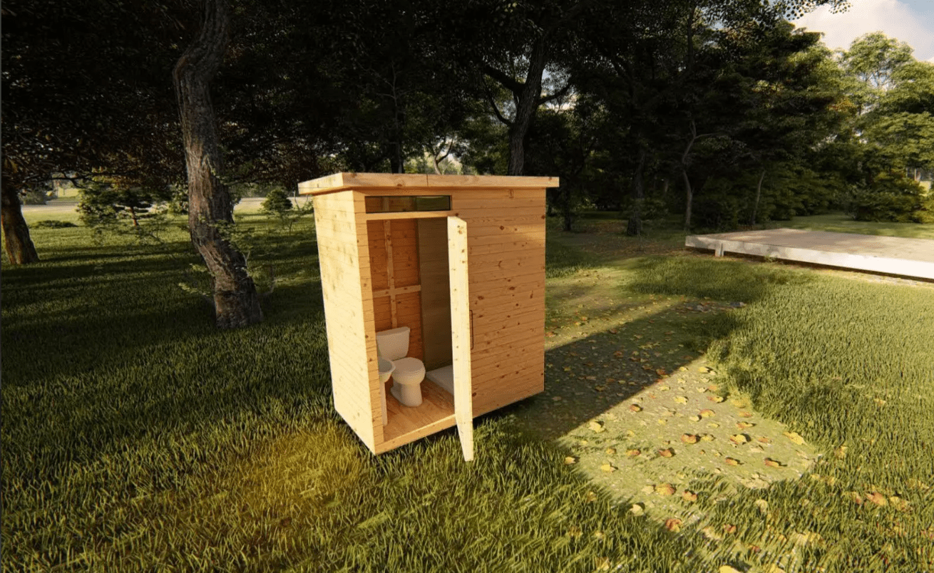 Sanitair hout toilet