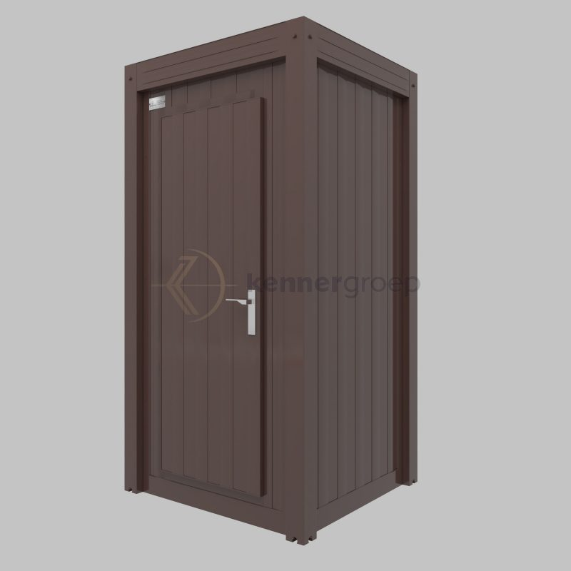 Bruine Unit Douche En Toilet