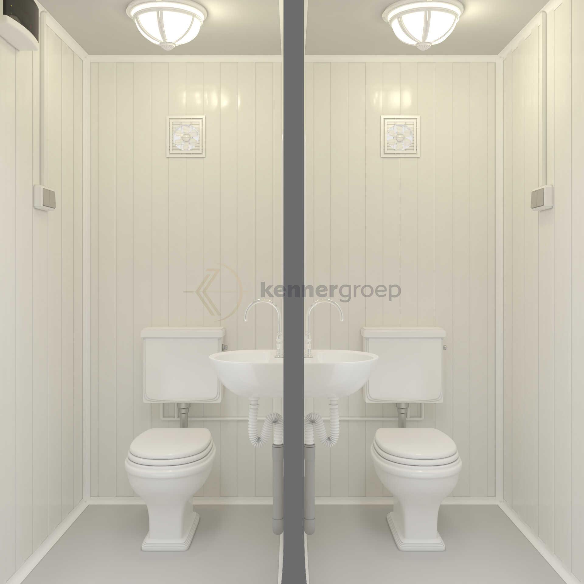 Dubbele Toilet Unit 2 Deuren