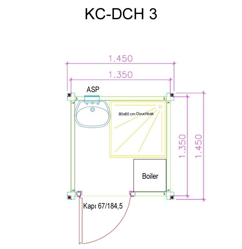 KC-DCH3 Plattegrond