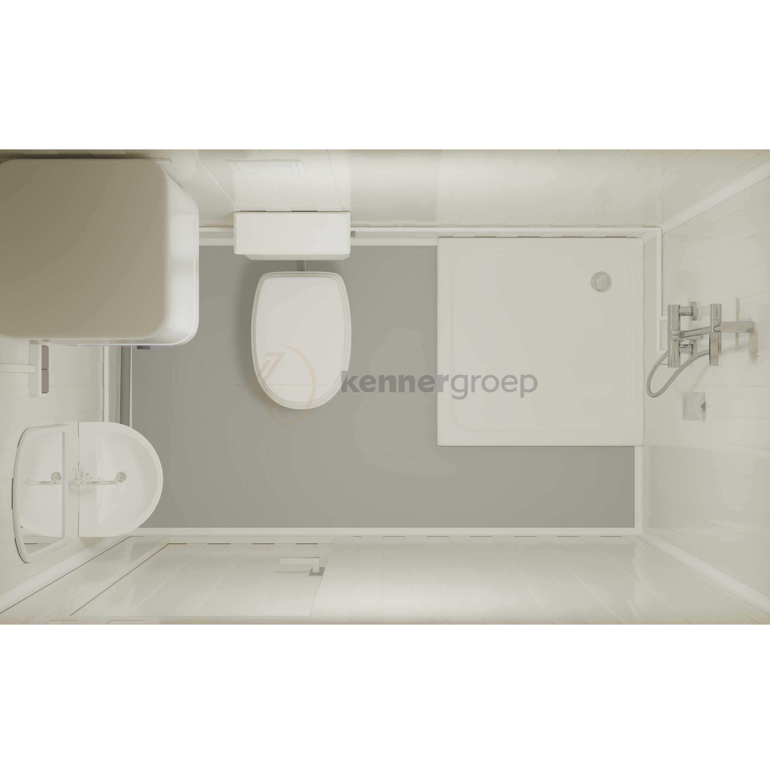 Metalen Combi, Toilet + Wastafel + Douche KC-COMBI1 €2500,-