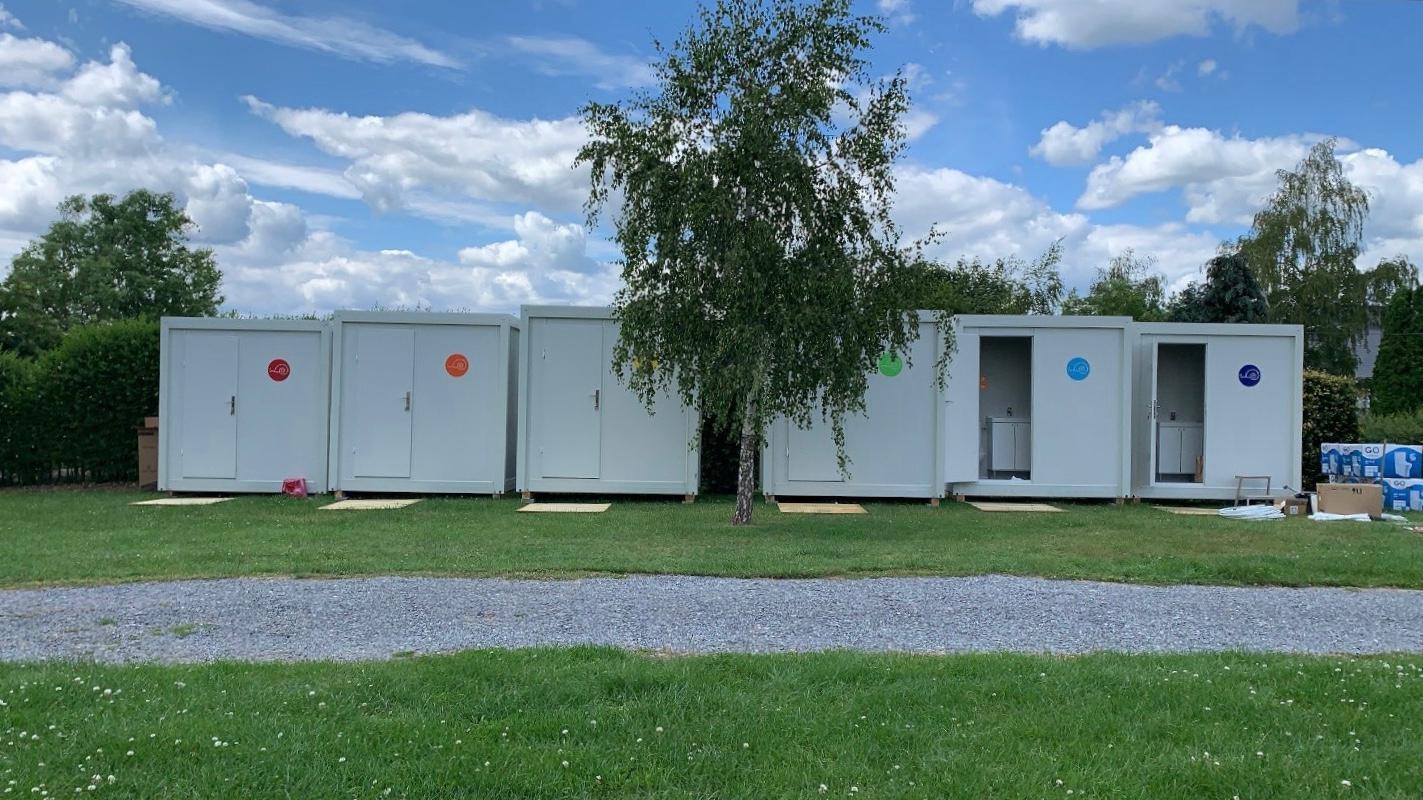 Onze Units Gebruikt Op Een Camping