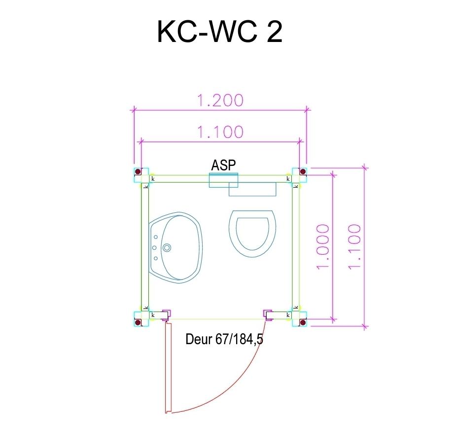 WC2 Unit Plattegrond